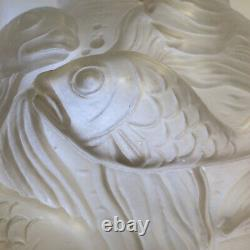 Sandwater Glass Ball Vase Style Lalique 30/40