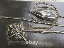 Sculpture Wall Plates Art Style New Metal Thistles Repulsed Design 70