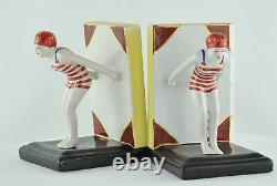 Serre-books Figure Bather Pin-up Sexy Diver Style Art Deco Porcelain