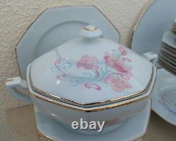 Service De Table Porcelaine De Limoges Décor Style Art Nouveau