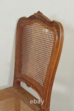 Six Canadian Chairs Style Louis XV Walnut
