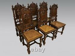 Six Renaissance Style Dining Room Chairs