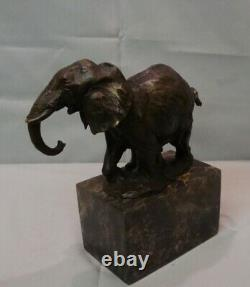 Statue Elephant Animalier Style Art Deco Style Art Nouveau Bronze