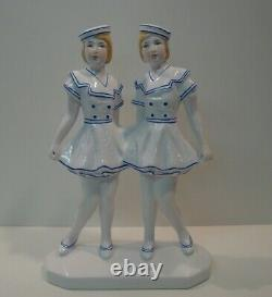 Statue Figure Marin Marine Girl Style Art Deco Style Art New Porcelain