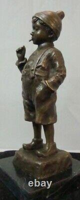 Statue Garcon Smoker Style Art Deco Style Art New Solid Bronze Sign