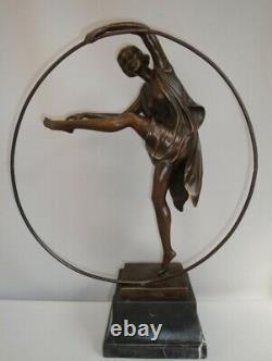 Statue Hoop Sexy Style Art Deco Style Art Nouveau Bronze Massive Sign