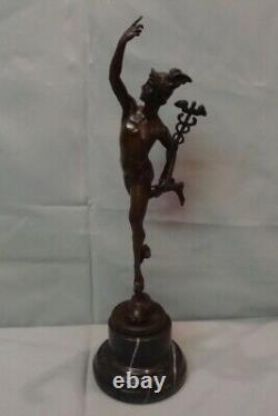 Statue Mercury Nu Style Art Deco Style Art Nouveau Massive Bronze Sign