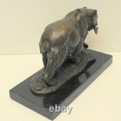 Statue Sculpture Animal Bear Style Art Deco Style Art Nouveau Massive Bronze S