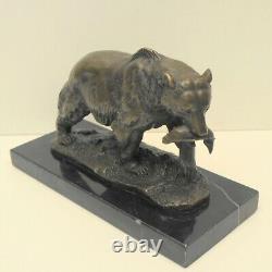 Statue Sculpture Bear Animal Style Art Deco Style Art New Solid Bronze S