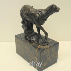 Statue Sculpture Cheetah Animal Art Art Deco Style Art Nouveau Bronze Massi