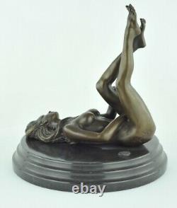 Statue Sculpture Dancer Sexy Pin-up Style Art Deco Style Art Nouveau Bronze Ma