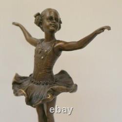 Statue Sculpture Dancer Style Art Deco Style Art New Solid Bronze Sign