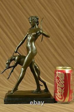 Statue Sculpture Diane Chassress Art Deco Style New Bronze Lost Cire
