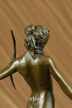 Statue Sculpture Diane Halfry Art Deco Style New Bronze Hot Cast Iron