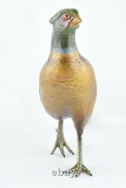 Statue Sculpture Faisan Bird Animals Hunting Style Art Deco Style Art Nouveau