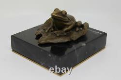 Statue Sculpture Frog Animal Style Art Deco Style Art New Bronze Ma