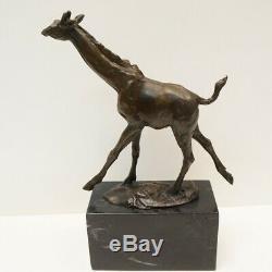 Statue Sculpture Giraffe Animal Style Art Deco Art Nouveau Bronze Massive