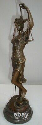 Statue Sculpture Justice Themis Style Art Deco Style Art Nouveau Bronze Massi
