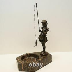 Statue Sculpture Pecheuse Girl Style Art Deco Style Art Nouveau Bronze Massi