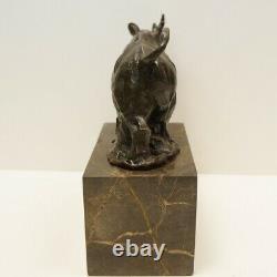 Statue Sculpture Rhinoceros Animal Style Art Deco Style Art Nouveau Bronze Ma