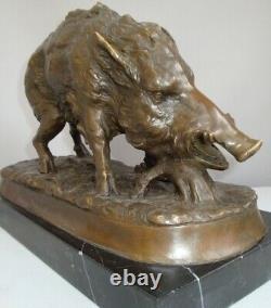 Statue Sculpture Sanglier Animalist Hunting Style Art Deco Style Art Nouveau Bron