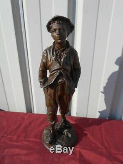 Statue Young Man Style Gavroche Period Beginning In 1900 Regulated