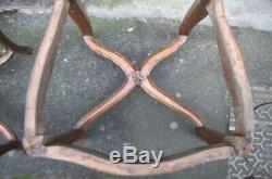 Suite 7 Cane Chairs Louis XV Style Estampilléd