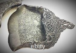 Superb 19th Century Art Nouveau Crumbs Picket, Louis Phillipe Silver-plated Style
