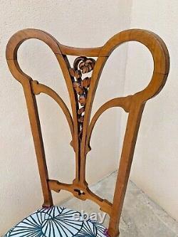 Superb Louis Majorelle-style Nanny Chair, Art Nouveau Period 1900