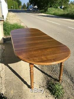 Table 6 Feet Solid Oak 4 Louis Philippe Extension Of The 20th Century