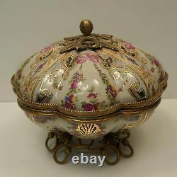 Table Centre Flower Style Art Deco Style Art Nouveau Porcelaine Bronze