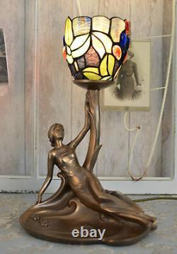 Table Lamp Antique Tiffany Sculpture Lamp Feminine Chevet Lamp New