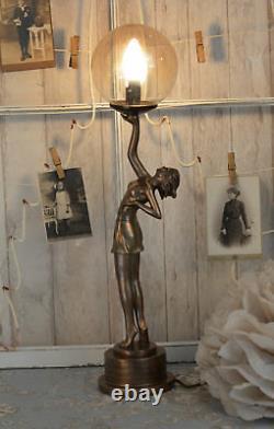 Table Lamp Art Deco Dancer Lamp Art Nouveau Style