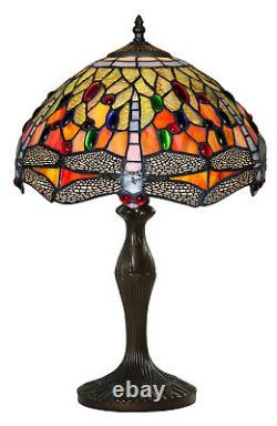Table Lamp In Tiffany Style Antiquities Art Design Color Bronze Hand 3