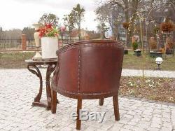 Table Pedestal Extra Round Curve Mahogany Style Vintage Deco Art Nouveau