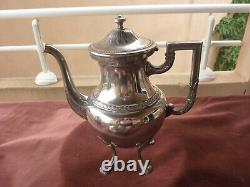 Tea/coffee Service, German Silver Metal, Wmf, Empire Style, Early 20th