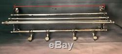 The Trans-siberian Coat Rack Wagon Bed Style Art Deco Chrome Metal