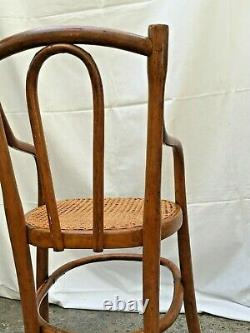 Thonet-style Curved Wooden High-top Chair