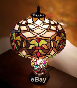 Tiffany Glass 2 Way Table Lamp Lamp Base And Shade Art Deco