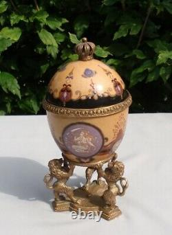 Urne Style Art Deco Art Nouveau Bronze Porcelain Table Center