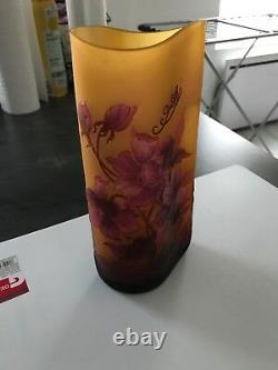 Vase Emaille Pate De Verre Style Legras Galle Crystal Art Deco Art Nouveau Emaux