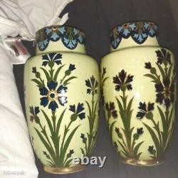 Vase Faience Lunéville Style Art Nouveau Circa 1900 26cm