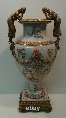 Vase Figure Flower Style Art Deco Style Art New Porcelain Bronze Ceramic