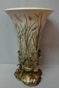 Vase Figure Frog Style Art Deco Style Art Nouveau Porcelaine Bronze