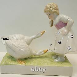 Vase Figurine Child Goose Style Art Deco Art Nouveau Porcelaine Emaux