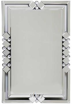 Very Large Rectangle Frame Mirror 60cm X 90cm Art Deco Style Grand Mirror Mural