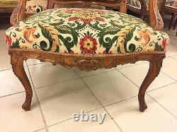 Walnut Lounge 4 Chairs 2 Chairs Louis XV Style
