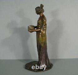 Woman Flower Style Mucha Sculpture Art Style New Bronze Former Judgestil