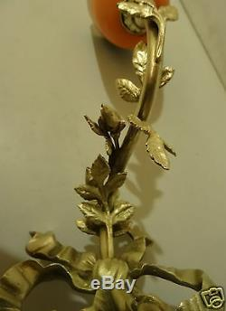 @ Wonderful Lamp In Bronze Louis XVI Style With Tulip Pate Glass Signed