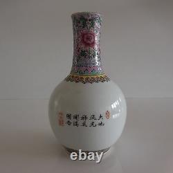 2 vases soliflores céramique porcelaine style art nouveau Asie Chine Japon